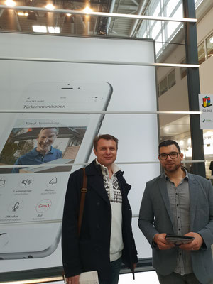 Unsere Mitarbeiter Herr Sosa und Herr Kling auf der Messe Bau München 2019