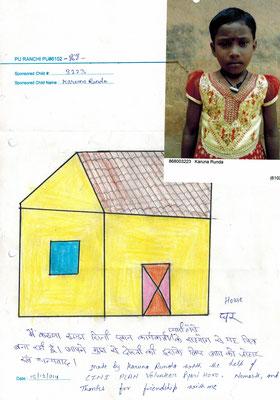 Ein selbst gezeichnetes Bild von Karuna als Dankeschön.