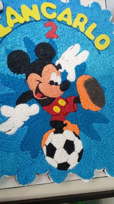 pastel cupcakes mickey futbolista