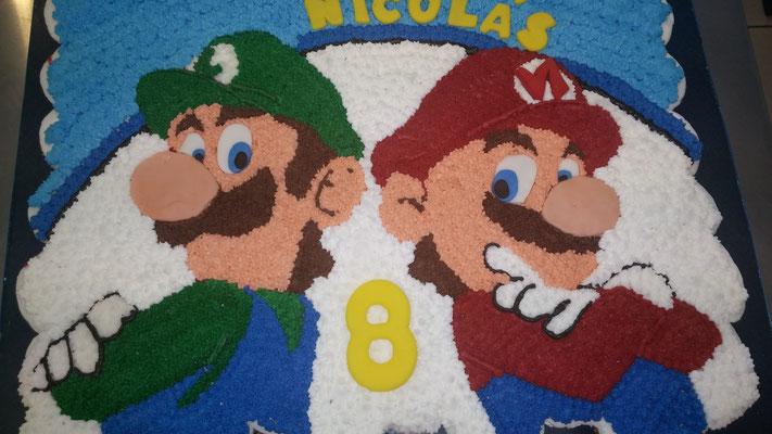 pastel cupcakes mario bros y luigy