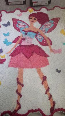 pastel cupcakes barbie mariposa