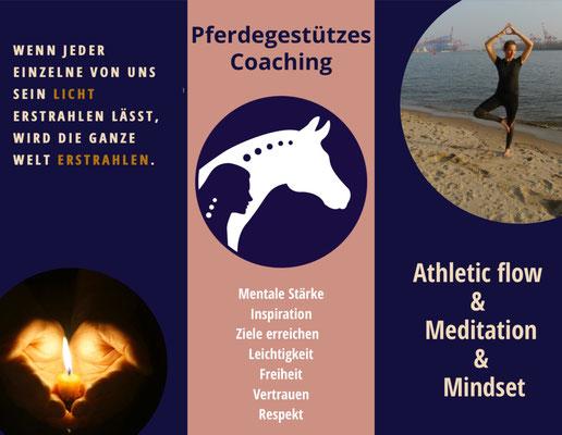 Flyer Pferdegestütztes Coaching in Spangenberg – Osteopathie Kullmann