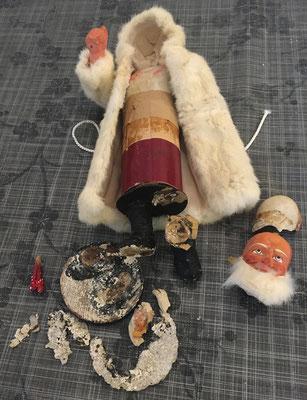 Réparation jouets anciens : un Père Noël boite à bombons allemand