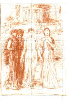 Hans von MaréesMarées: Singende Mädchen, Entwurf