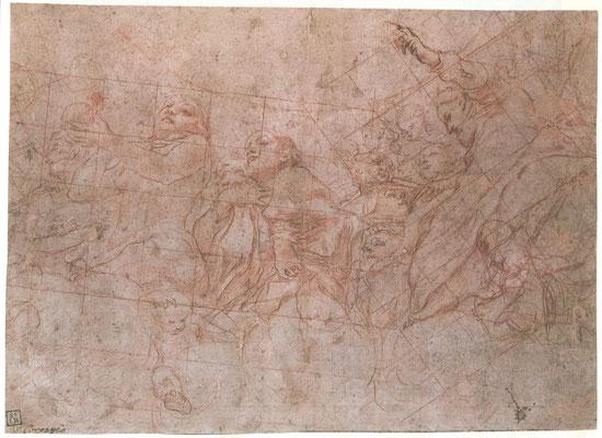 Correggio: : Teil der Kuppel mit Darstellung der Eva