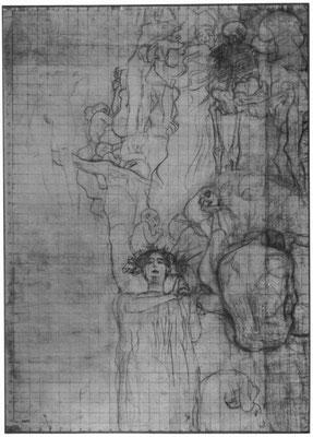 Gustav Klimt: Entwurf für den ersten Zustand des Facultätsbildes »Medizin«