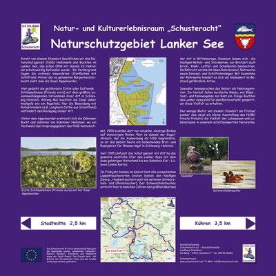 """Schusteracht Infotafel """"Naturschutzgebiet Lanker See"""""""