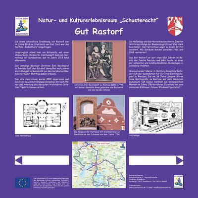 """Schusteracht Infotafel """"Gut Rastorf"""""""