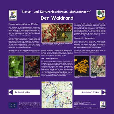 """Schusteracht Infotafel """"Der Waldrand"""""""