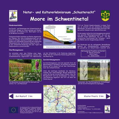 """Schusteracht Infotafel """"Moore im Schwentinetal"""""""
