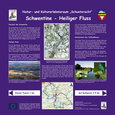 """Schusteracht Infotafel """"Schwentine - Heiliger Fluß"""""""