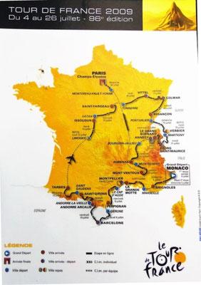 Parcours Tour de France 2009