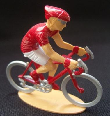 Cycliste maillot rouge Grimpeur Echappée infernale 2010