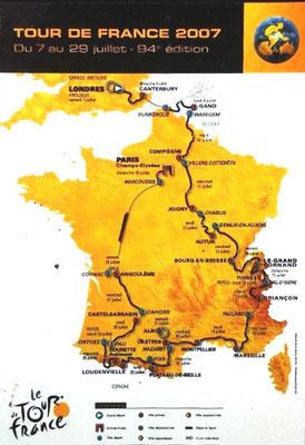 Parcours Tour de France 2007