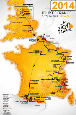 Parcours Tour de France 2014