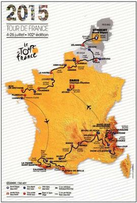 Parcours Tour de France 2015