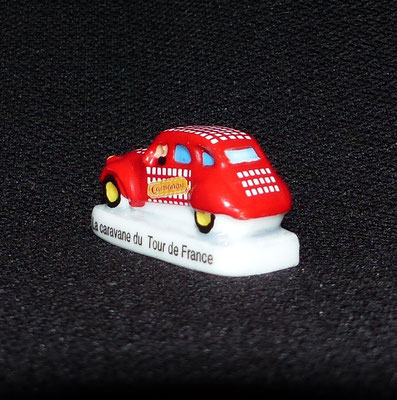 Fève Tour de France  Série 2014   Citroën 2CV Cochonou Caravane publicitaire