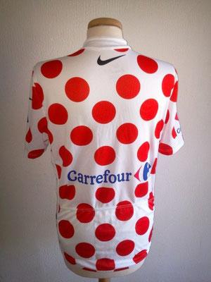 Maillot blanc à pois rouge Carrefour Tour de France 2010