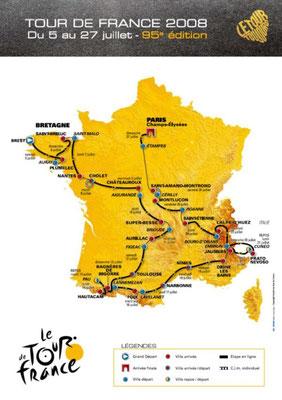 Parcours Tour de France 2008