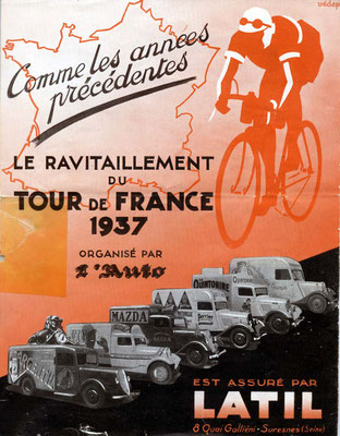 Pub Latil - Tour de France 1937