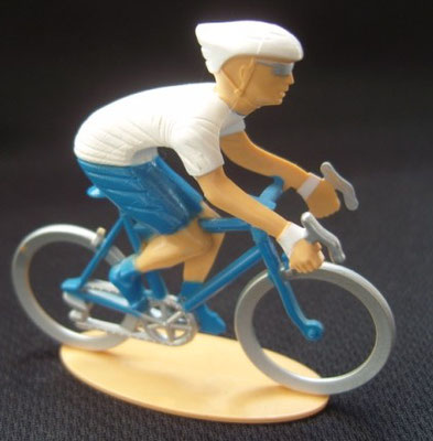 Cycliste maillot blanc Puncher Echappée infernale 2010