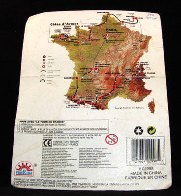 Blister FUNRISE  3 coureurs + carte Tour de France 1995