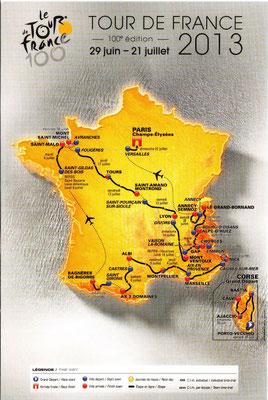 Parcours Tour de France 2013