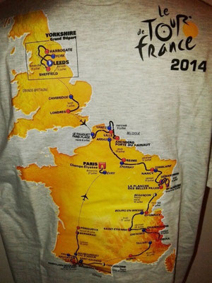 Tee-shirt Tour de France 2014 (carte au dos))