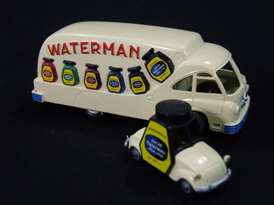 Camion Ford + Voiturette de Rovin WATERMAN    Tour de France 1952