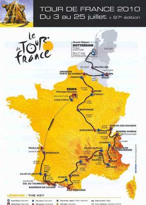 Parcours Tour de France 2010