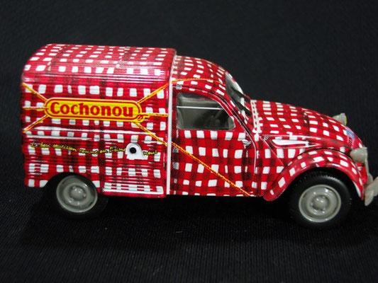 Citroen 2 CV Fourgonnette Cochonou    Tour de France 2000