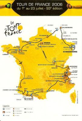 Parcours Tour de France 2006