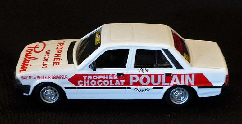 Peugeot 505 Chocolat POULAIN  Caravane Tour de France 1983