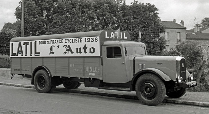 Latil - camion-valise - Tour-de-France 1936