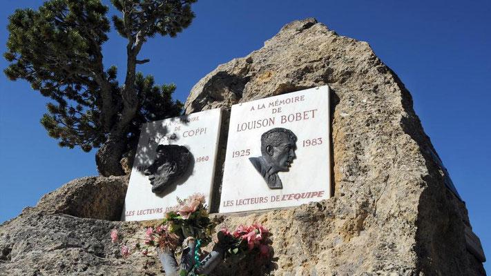 Stèle  Fausto COPPI - Louison BOBET
