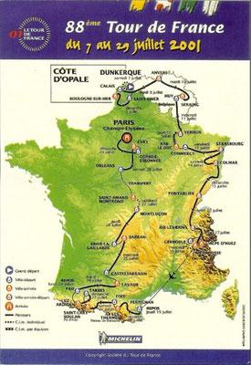 Parcours Tour de France 2001