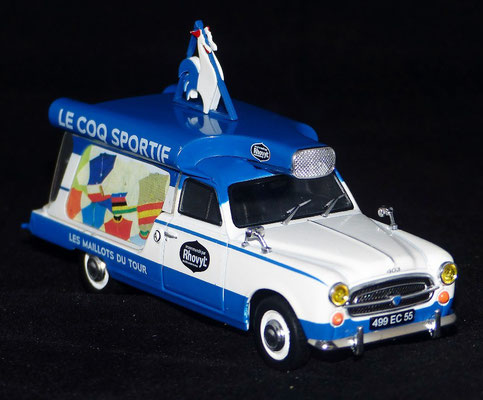 PEUGEOT 403 U8    LE COQ SPORTIF     Caravane Tour de France 1967