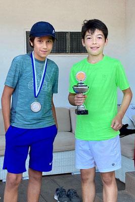 Levin K., Finalist (li.) und Damian R., Sieger (re.), MS 16&U