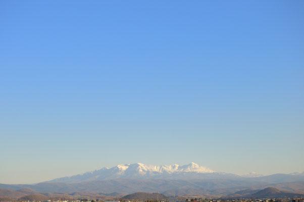 比布SAで休憩。大雪山の大パノラマ!!
