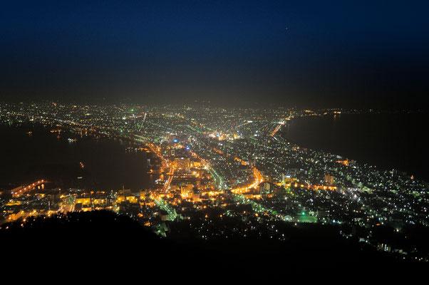 定番の、函館山夜景