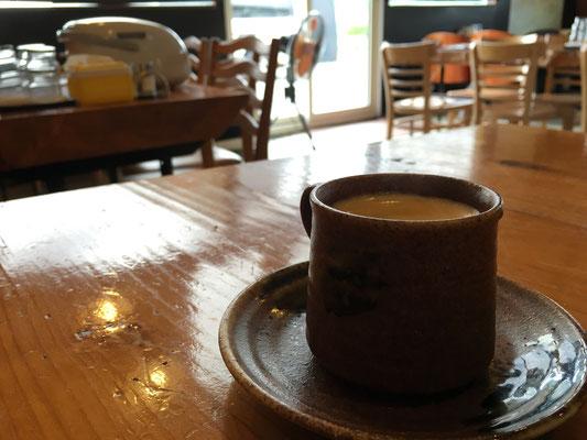 食後にコーヒーまで?!