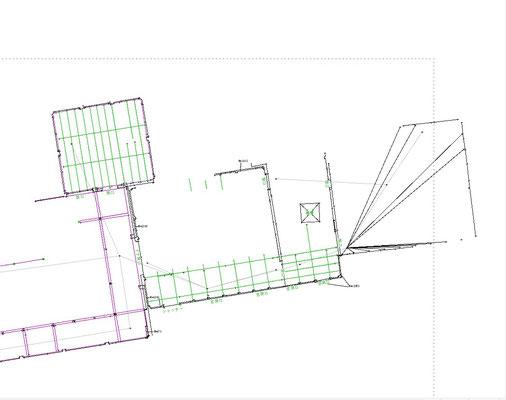 実測データ、CADで図面化真っ最中!