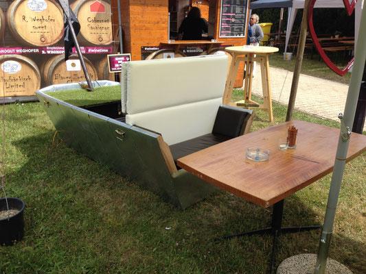 Designboot, Garten, Schanigarten, sommelier, Fashion for wine, wien, vienna, weghofer