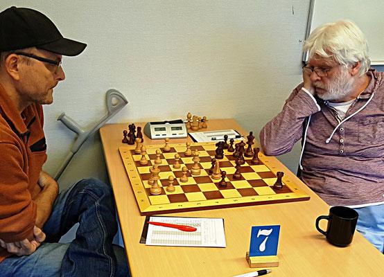 18. Mai 2018 - 6. Runde: Erich Müller gegen Bernd Kaeding - Foto © Wofgang Wilke