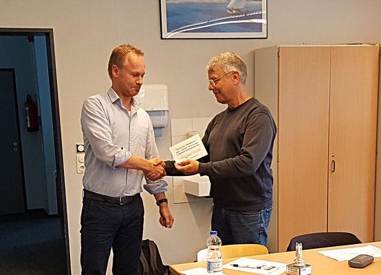 22. Juni 2018 - Ratingpreis (DWZ <1400) für Pascal Echt - Foto © Wofgang Wilke