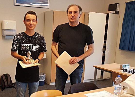 22. Juni 2018 - Die Stadtmeister 2018: Kaloyan Popvasilev & Matthias Thanisch - Foto © Wofgang Wilke