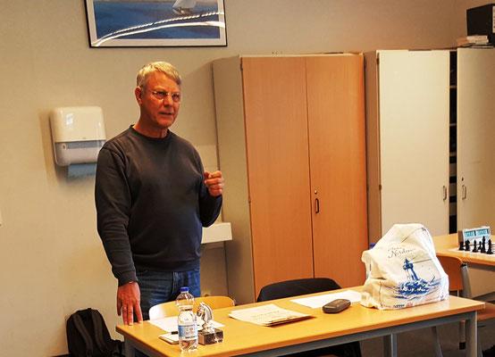 22. Juni 2018 - Turnierleiter Hajo Heck mit kurzer Ansprache - Foto © Wofgang Wilke