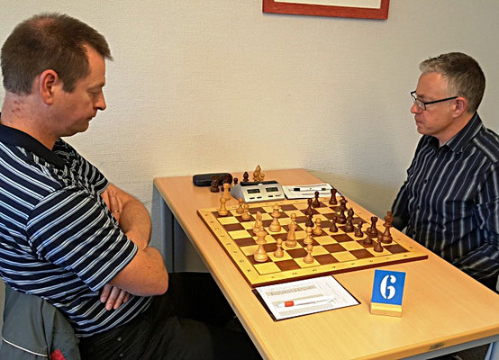 18. Mai 2018 - 6. Runde: Christian Lossner gegen Mathias von Elsner - Foto © Wofgang Wilke
