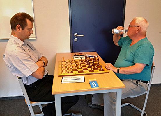 08. Juni 2018 - 7. Runde: Christian Lossner gegen Henning Geibel - Foto © Wofgang Wilke