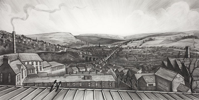'Kinder From Chalkers' (charcoal)